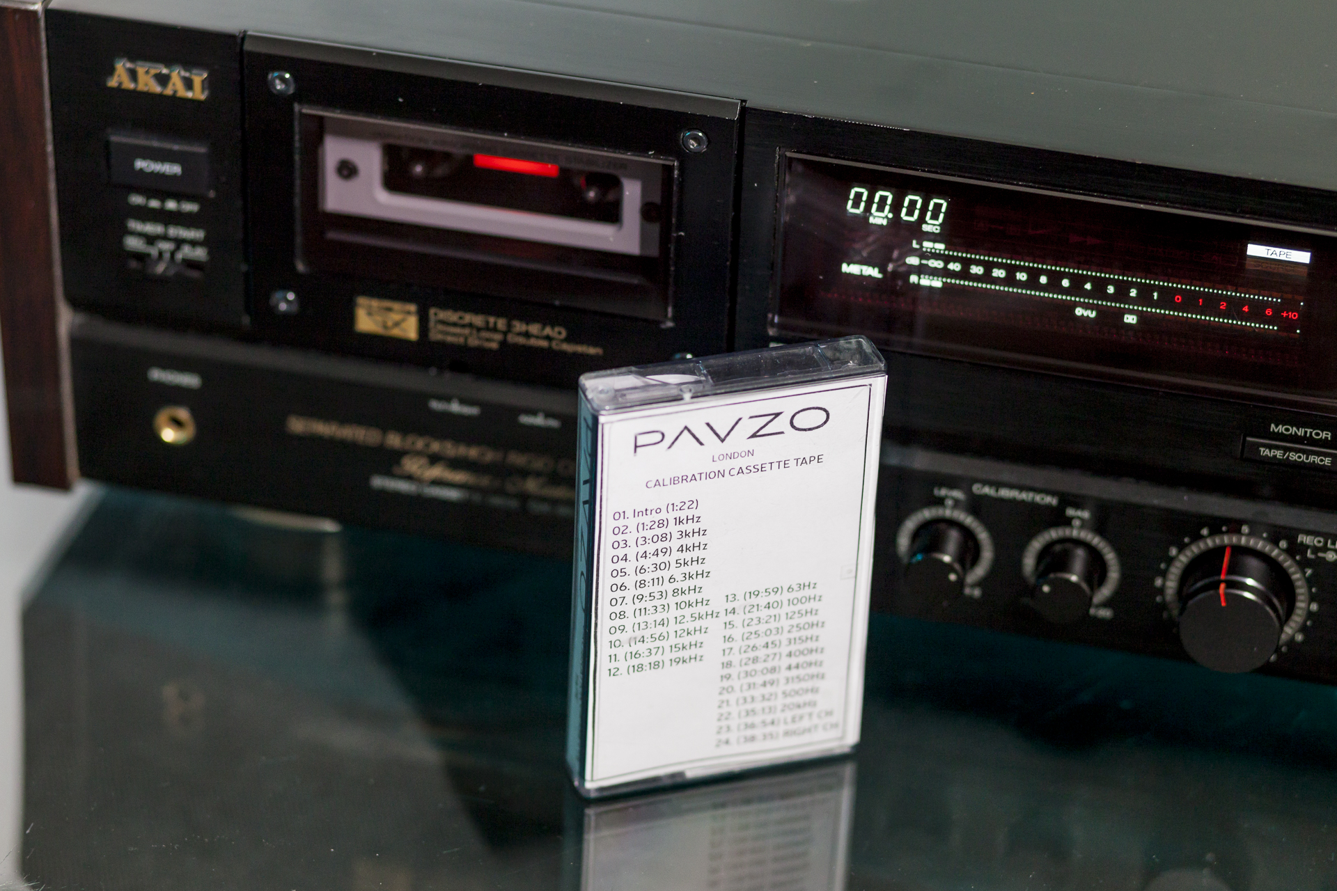 PAVZO – Calibration Cassette Tape for Test Speed BIAS Wow